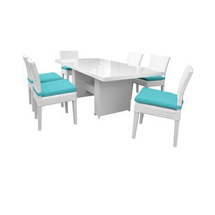 Monaco 7 Piece Outdoor Patio Dining Set with Cushions