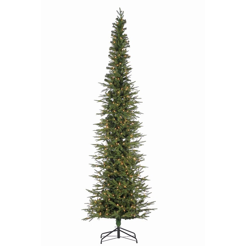 narrow artificial christmas trees 7 foot natural cut narrow lincoln green pine artificial christmas tree with clear white lights stand the holiday aisle