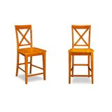 Oliver Solid Wood 25.25 Counter Stool (Set of 2) by Darby Home Co