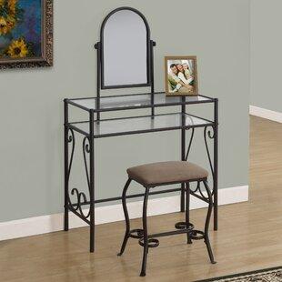 Vanity Set with Mirror by Monarch Specialties Inc.