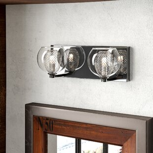 Blasa 2-Light Clear Glass Vanity Light by Trent Austin Design