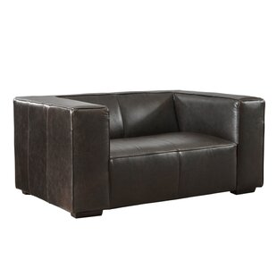 Denis Leather Loveseat