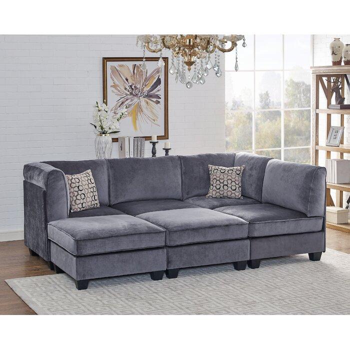 Marylou Modular Velvet Sofa Set