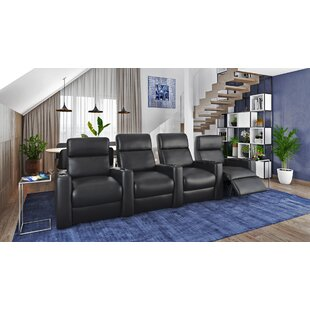 Power Leather Home Theater Configurable Seating