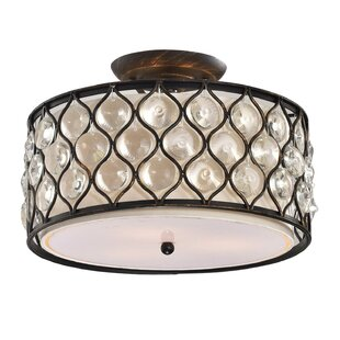 Theodosia 3-Light Semi Flush Mount by House of Hampton