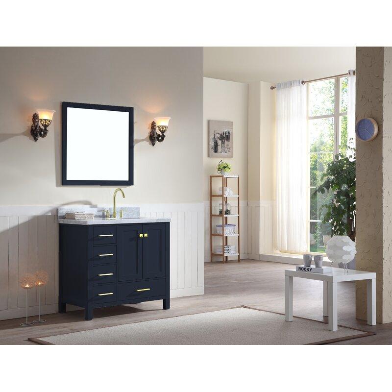 Minneota Modern 37 Single Bathroom Vanity Set With Mirror Reviews Joss Main