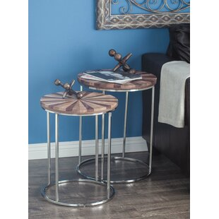 Matthes Rustic 3 Piece Nesting Tables