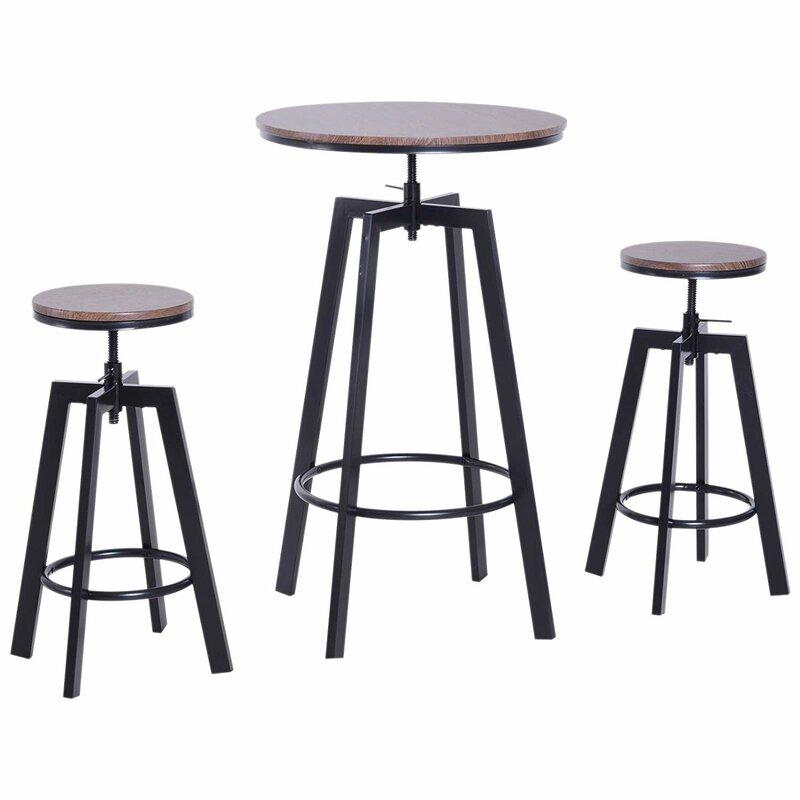 LoftDesigns Essgruppe Werner mit 2 Stühlen