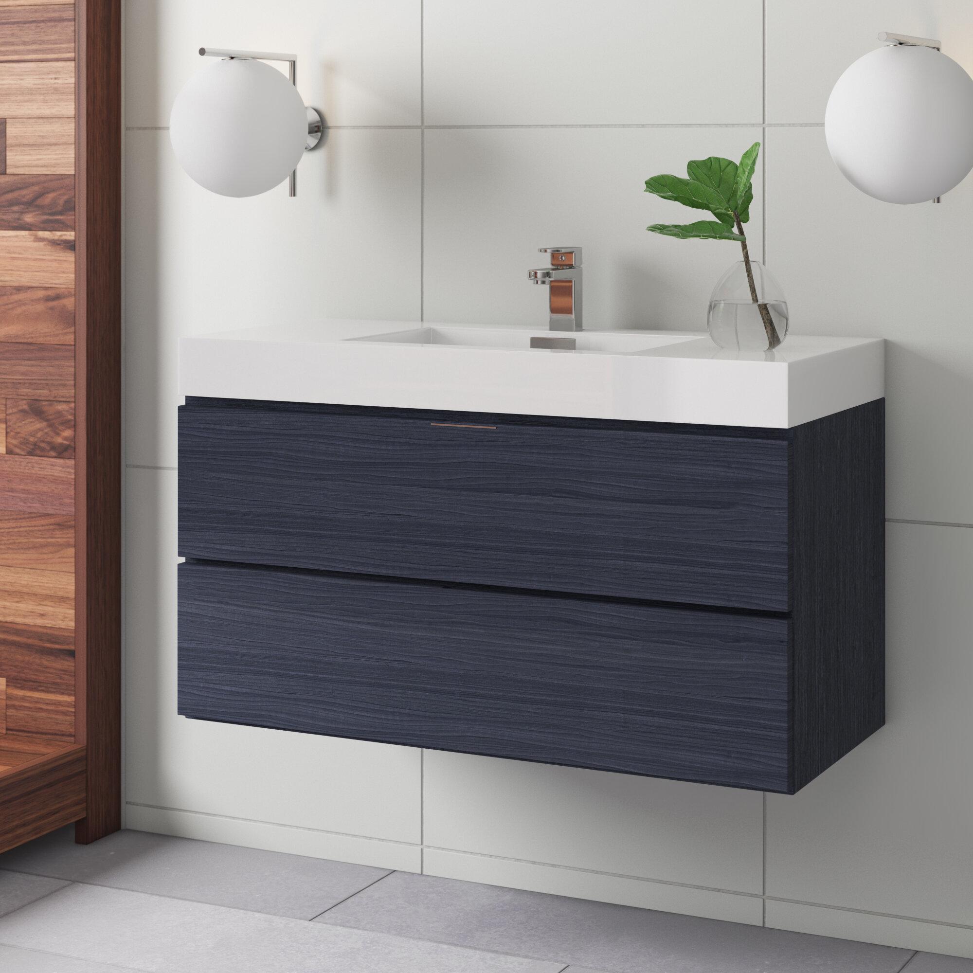 Shania 40 Wall Mounted Single Bathroom Vanity Set Reviews Allmodern