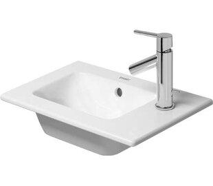Best Ceramic Rectangular Vessel Bathroom Sink with Overflow By Duravit