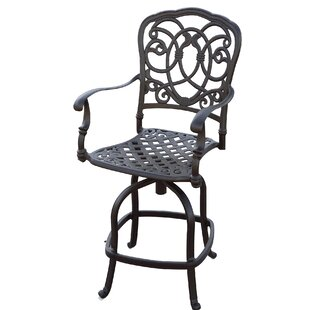 Dolby Patio Counter Height Swivel Bar Stool with Cushion (Set of 4) (Set of 4)