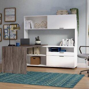 Wrought Studio Pham 3-Piece L-Shape Desk Office Suite