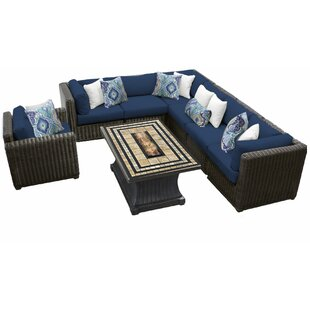 Fairfield 8 Piece Sectional Seating Group with Cushions