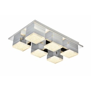 Orren Ellis Corbyn 6-Light LED Flush Mount