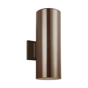 Creissant 2-Light Glass Shade Outdoor Sconce