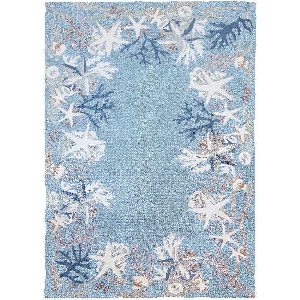 Highland Dunes Stalbridge Hand Hooked Blue White Indoor Outdoor Area Rug Reviews Wayfair