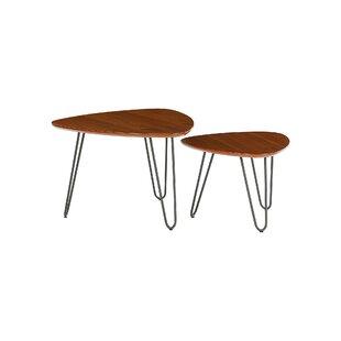 Liliana 2 Piece Coffee Table Set By Hykkon