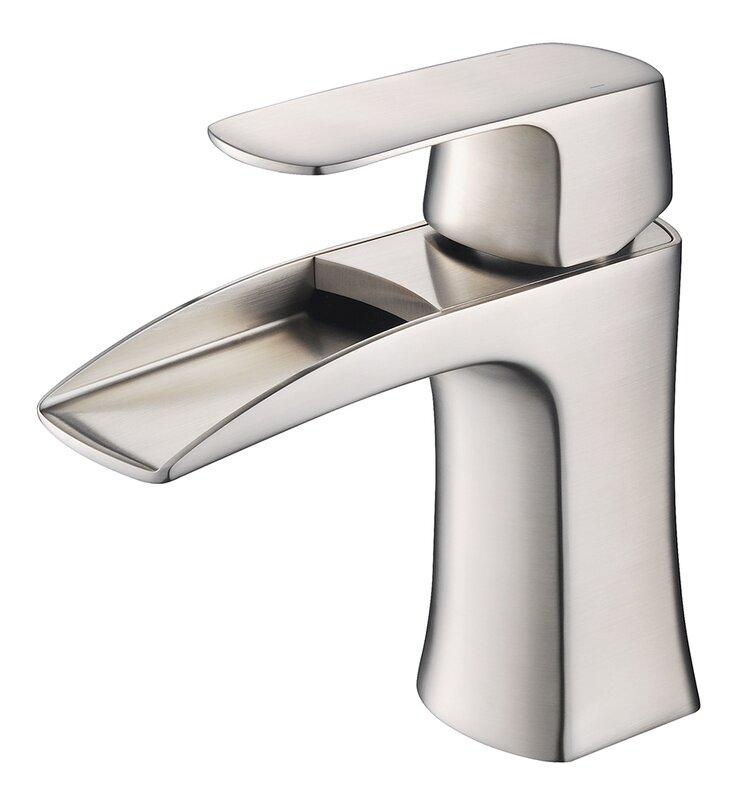 fortore single handle single hole waterfall faucet