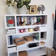 Corrigan Studio Carnageeragh 53 H X 44 W Geometric Bookcase Reviews Wayfair
