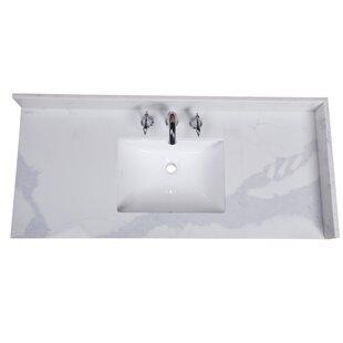Affordable Calcutta 49 Single Bathroom Vanity Top ByRenaissance Vanity
