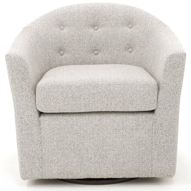 Mercury Row Antai 32 5 Wide Tufted Polyester Swivel Barrel Chair Reviews Wayfair