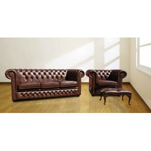 Ringling Chesterfield 2 Piece Leather Sofa Set By Rosalind Wheeler
