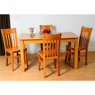 Kennerson 5 Piece Solid Wood Dining Set b..