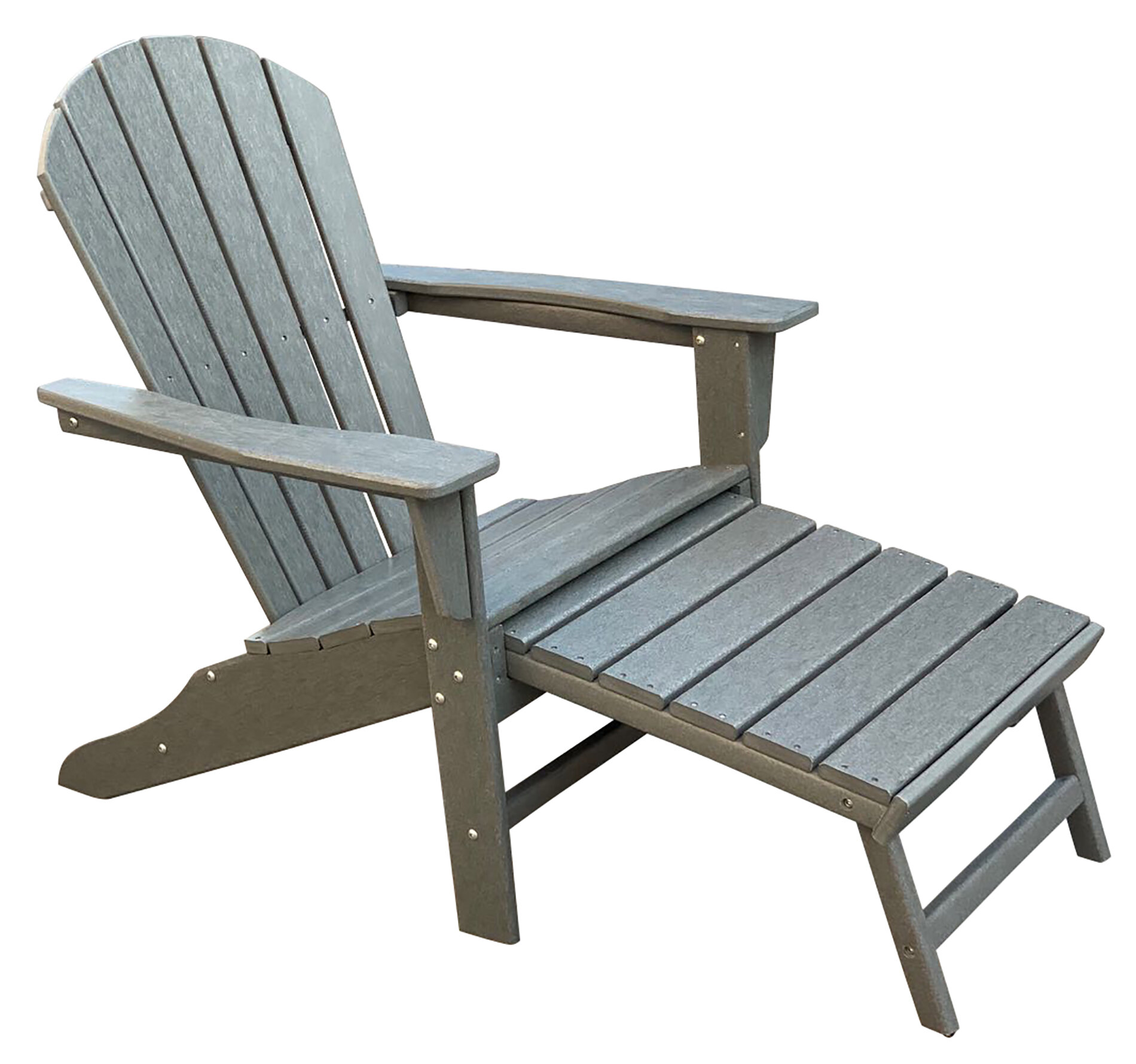 Incredible Corinne Patio Plastic Adirondack Chair With Ottoman Machost Co Dining Chair Design Ideas Machostcouk