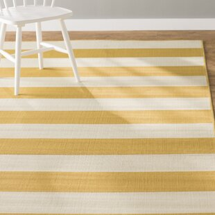 Alford Power Loomed Yellow Indoor/Outdoor Area Rug