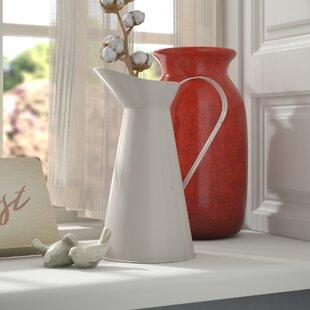 Decorative French Provençal Style Enamel Pitcher