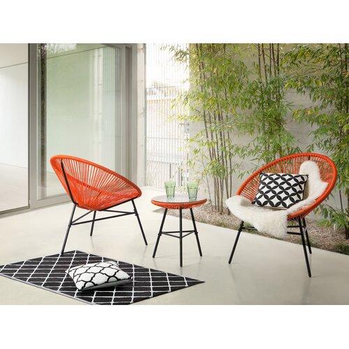 2-Sitzer Balkonset | Garten > Balkon > Balkon-Sets | Orange | Home Loft Concept