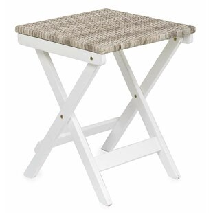 Claytor Folding Wood Side Table