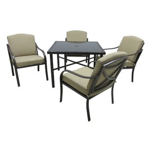 Darby Home Co Boundary Bay 5 Piece Dining Set with Cushions
