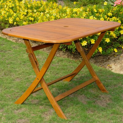 Church Street Folding  Solid Wood Dining Table by Breakwater Bay 2020 Sale