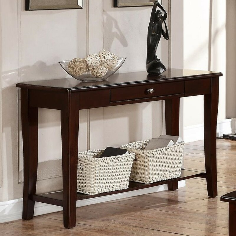 Ebern Designs Garduno Wooden Console Table Reviews Wayfair