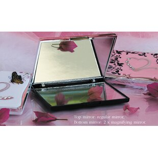 August Grove 2 Piece French Accents Compact Mirror Set