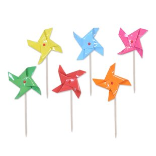 Pinwheel Pick Figurine (Set of 48)