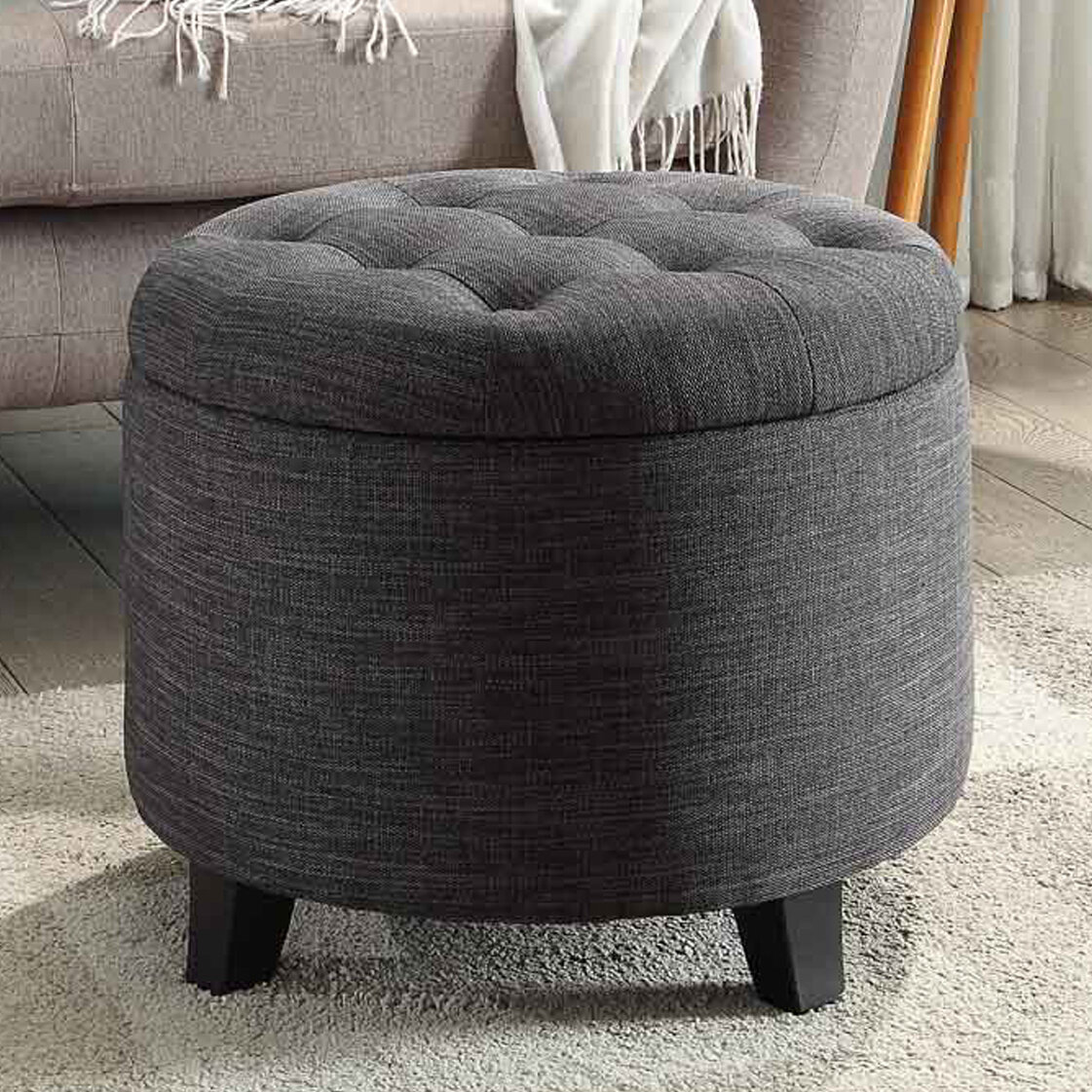 Wondrous Tufted Storage Ottoman Machost Co Dining Chair Design Ideas Machostcouk