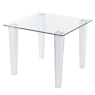 Vojtech Small Space Faux Leather Dining Table Orren Ellis