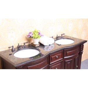 double vanity sink top. 61  Double Bathroom Vanity Top Tops You ll Love Wayfair