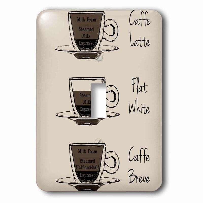 3drose Latte Coffee 1 Gang Toggle Light Switch Wall Plate Wayfair