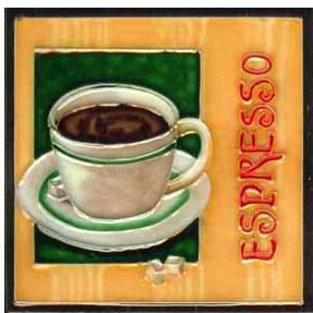 Espresso Tile Wall Decor by Continental Art Center #1