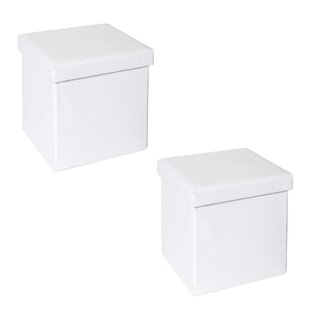 Frederick Quilted Fold-able Storage Ottoman (Set of 2)