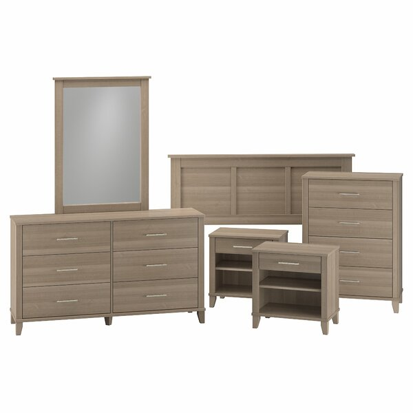 Laurel Foundry Modern Farmhouse Valencia Queen 6 Piece Bedroom Set U0026  Reviews | Wayfair