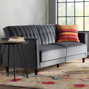 Hammondale Pin Tufted Convertible Sofa by Willa Arlo Interiors