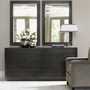 Carrera 6 Drawer Double Dresser with Mirror
