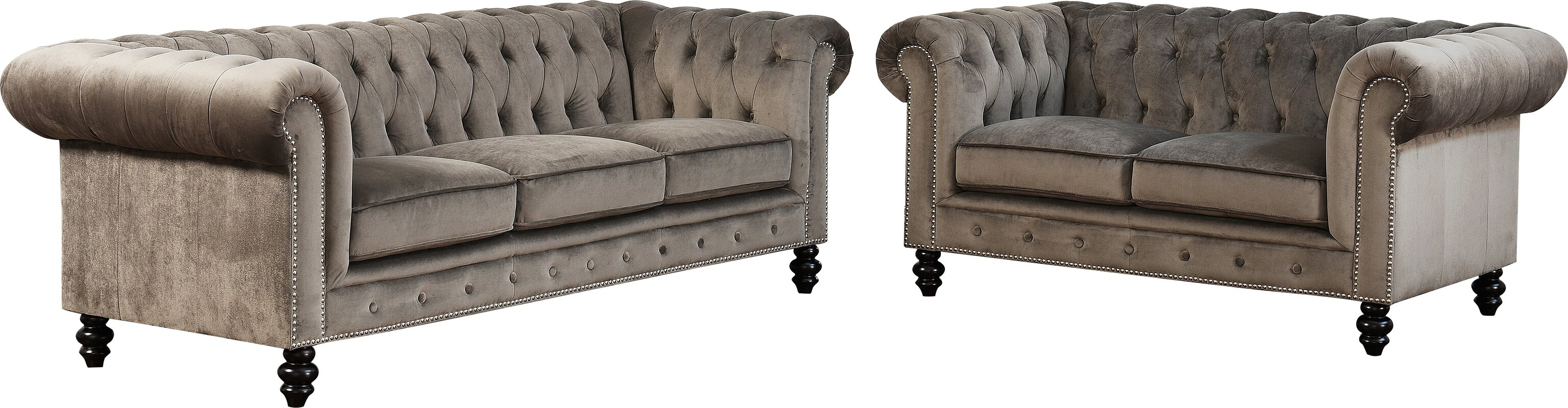living sd ashley design brown sofa piece two antique room fresco loveseat includes by set signature durablend