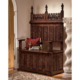 York Monastery Hardwood Storage Bench By Design Toscano