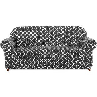 Cloud Printed Box Cushion Loveseat Slipcover by Charlton Home