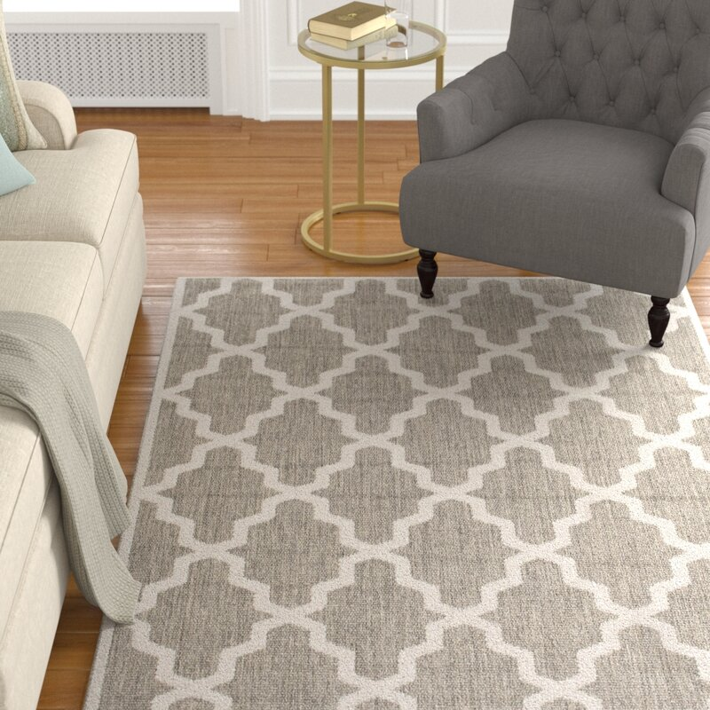 Alcott Hill Sidell Taupe Area Rug, Size: Rectangle 76 x 109